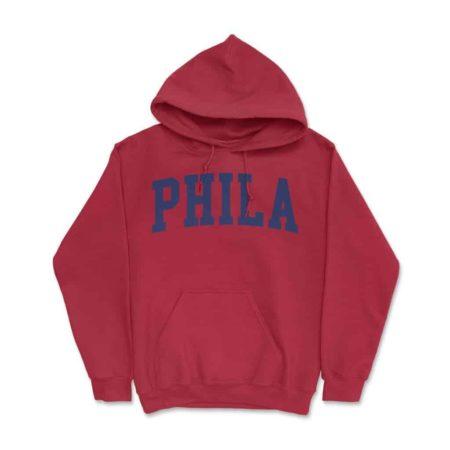 Phila Hoodie Red
