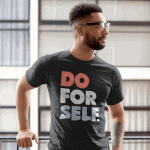 Do-For-Self-T-Shirt-Black
