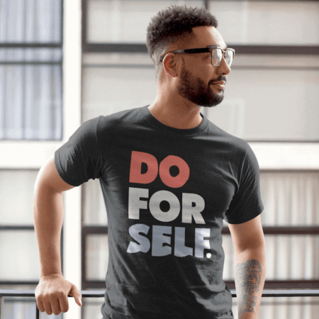 Do For Self Mens T-shirt outside