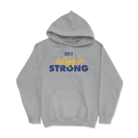 HBCU Aggie Strong Hoodie Athletic Grey