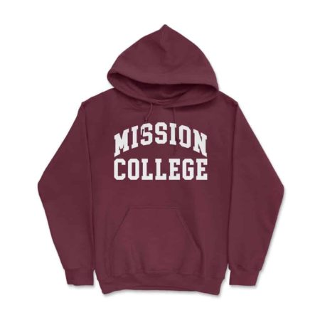 Mission College Hoodie Maroon