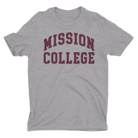 Mission College T-Shirt Athletic Grey