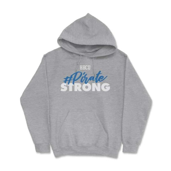 HBCU Pirate Strong Hoodie Athletic Grey