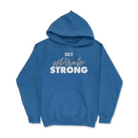 HBCU Pirate Strong Hoodie Royal Blue